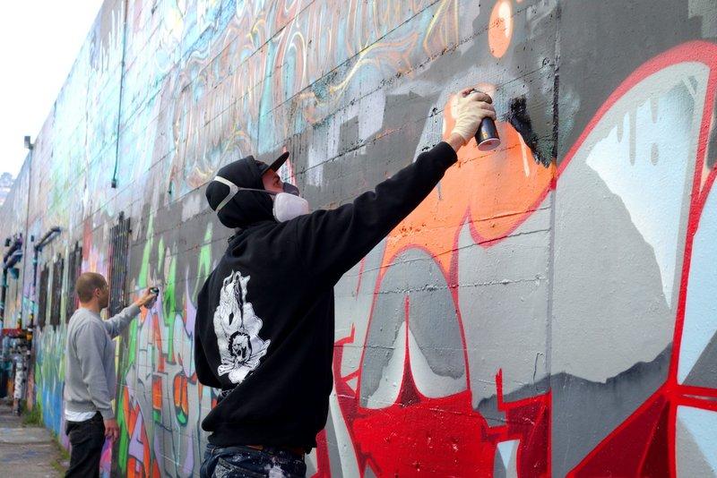 Graffiti Street Artists in Haight-Ashbury