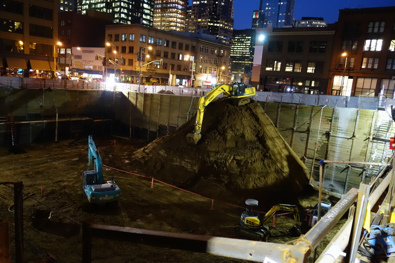 Open pit unearthed at 222 Second Street